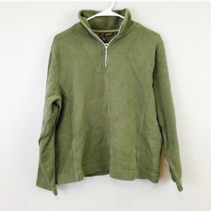 Tommy Bahama Olive Green Quarter Zip Sweater!